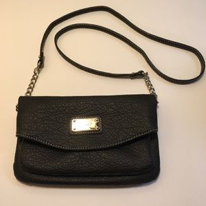 NWOT Nine West Faux Leather Crossbody Black